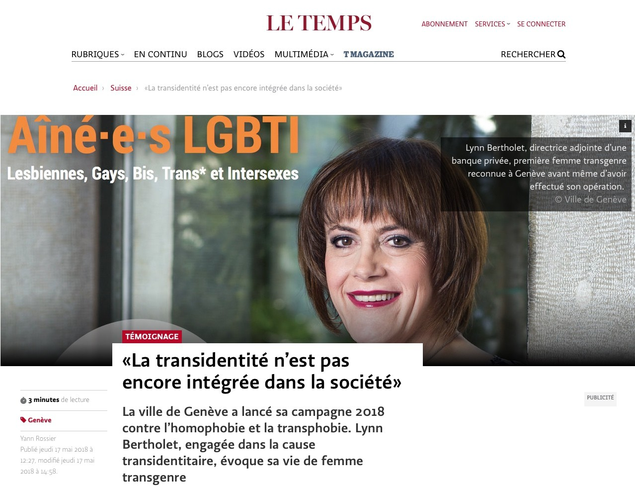 Le Temps - 17.05.2018 (version online)