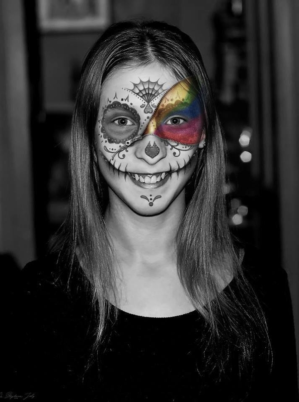 Ma fille Morgane - Maquillage virtuel Halloween